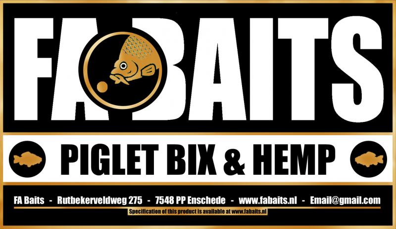 FA Baits Piglet Bix & Hemp Logo 2