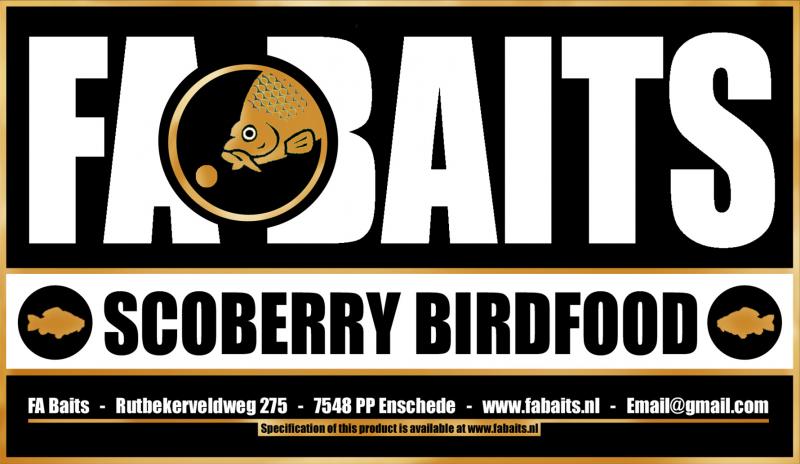 FA Baits Scoberry Birdfood Logo 2